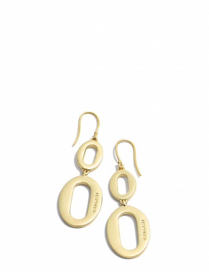 Coach Oval Link Drop Earrings Gold SALE Online Exclusives