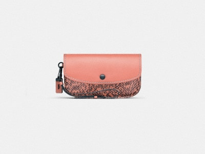 Customize CLUTCH WITH COLORBLOCK SNAKESKIN DETAIL