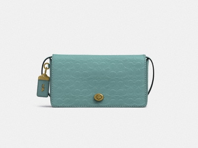 Customize DINKY IN SIGNATURE LEATHER WITH FLORAL BOW INTERIOR
