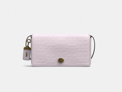 Customize DINKY IN SIGNATURE LEATHER WITH FLORAL BOW PRINT INTERIOR