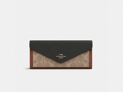 Customize SOFT WALLET IN COLORBLOCK SIGNATURE CANVAS