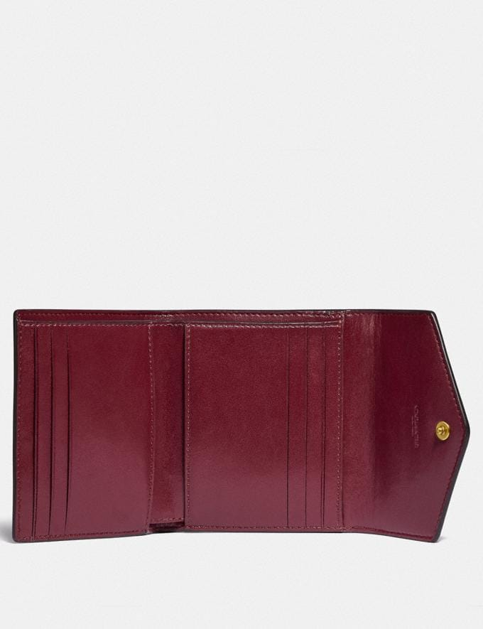 Coach Small Wallet With Horse and Carriage Print Brass/Black Brown Gift For Her Under €100 Alternate View 2