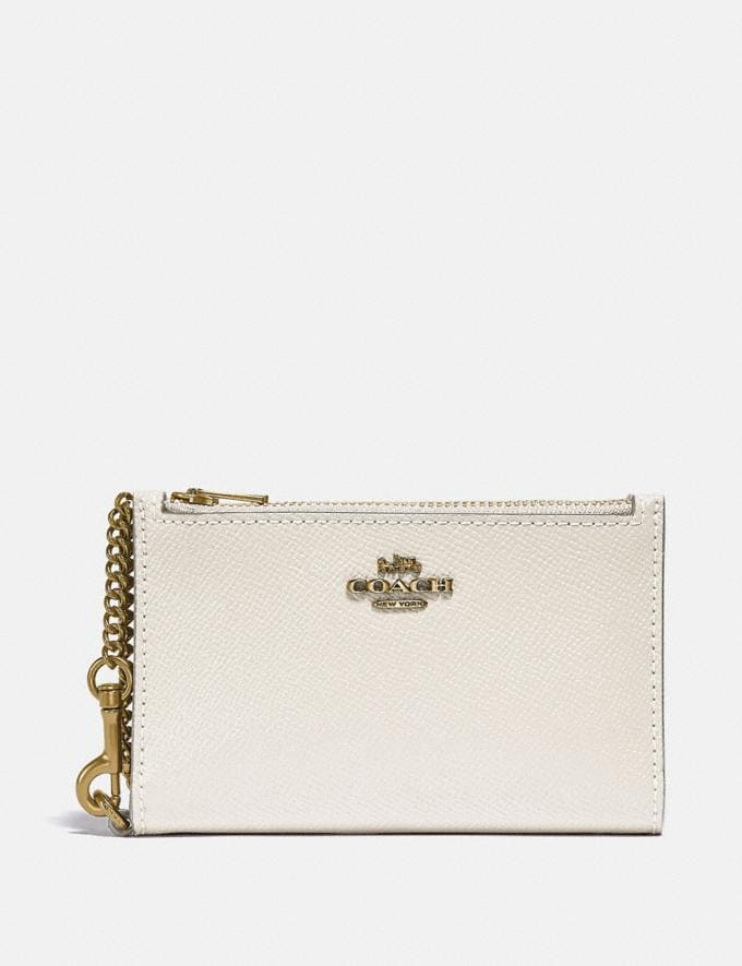 Coach Zip Chain Card Case in Colorblock B4/Chalk Multi Gifts For Her Under £150