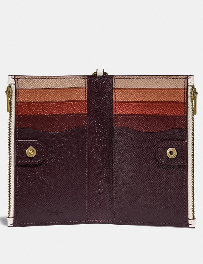 Coach Zip Chain Card Case in Colorblock B4/Chalk Multi Gifts For Her Under £150 Alternate View 1