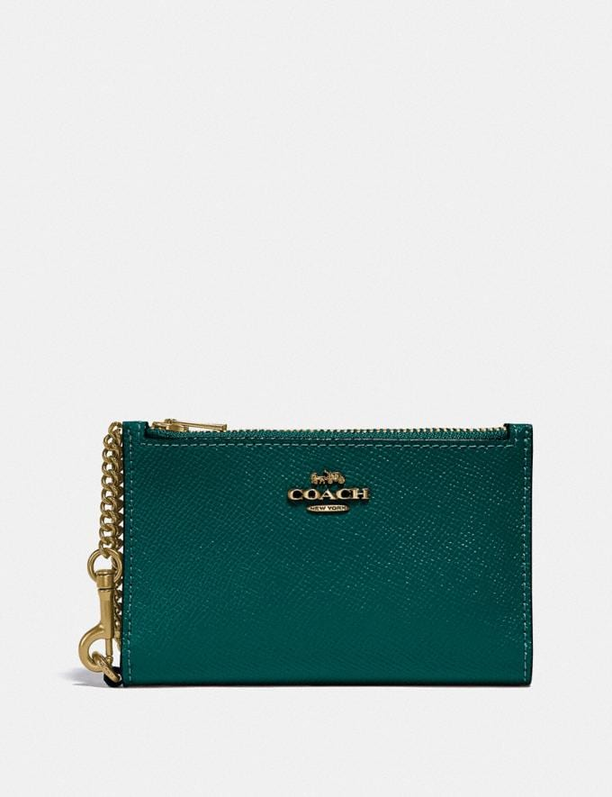 Coach Zip Chain Card Case in Colorblock B4/Forest Multi Gift For Her Under €100