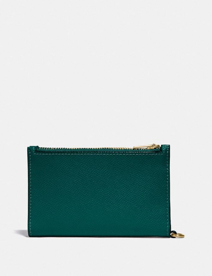 Coach Zip Chain Card Case in Colorblock B4/Forest Multi Gift For Her Under €100 Alternate View 1