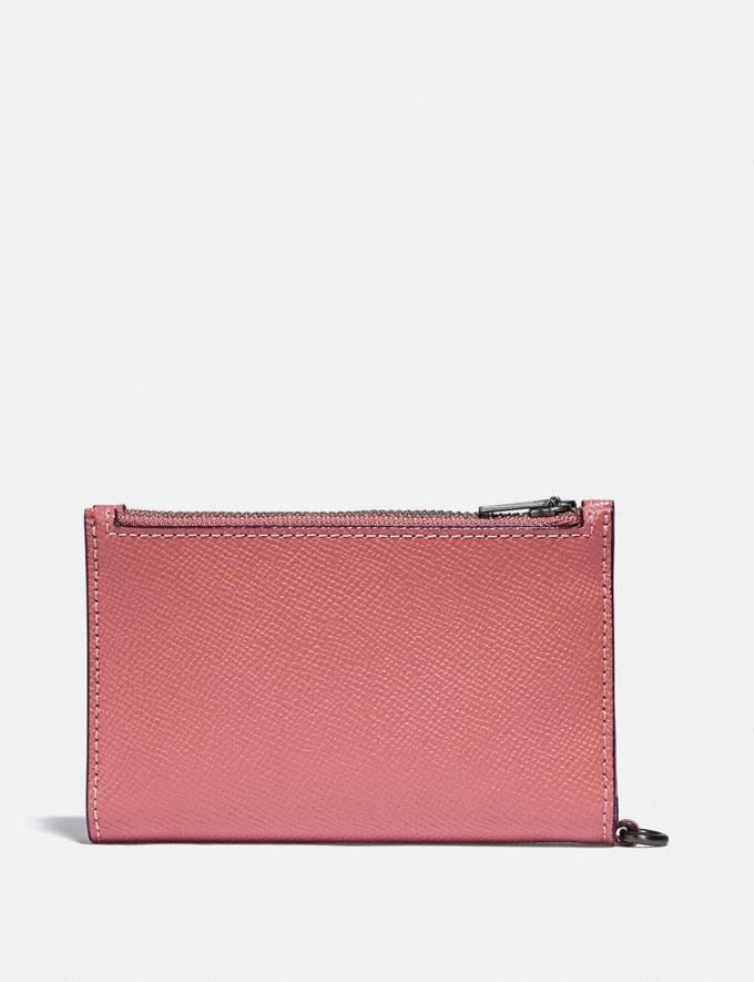Coach Zip Chain Card Case in Colorblock Pewter/Vintage Pink Multi Gifts For Her Under £100 Alternate View 1