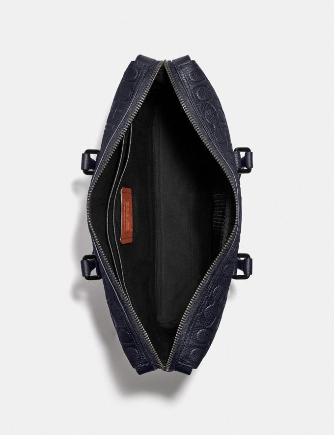Coach Gotham Brief in Signature Leather Ji/Midnight Navy Men Bags Briefcases Alternate View 2