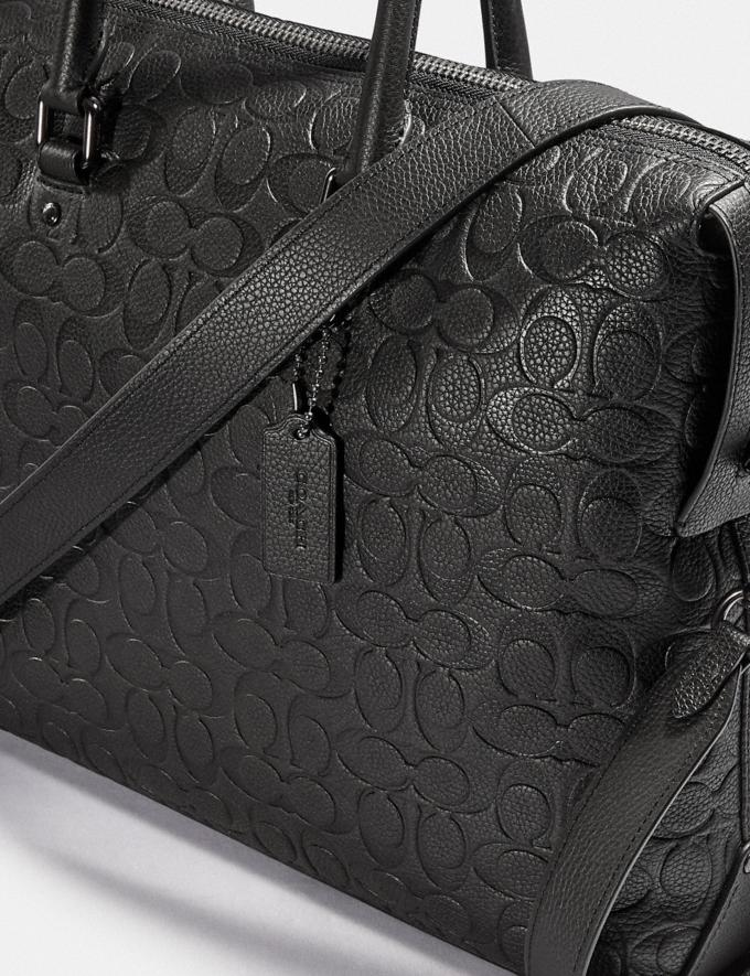 Coach Gotham Brief in Signature Leather Black Copper/Black Men Bags Briefcases Alternate View 5