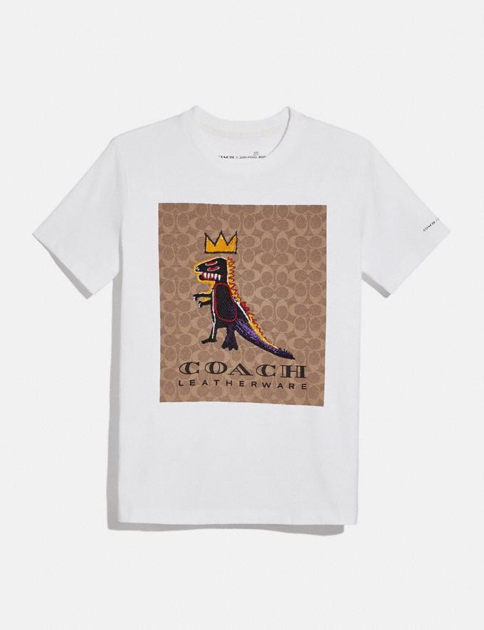 Coach Coach X Jean-Michel Basquiat Signature T-Shirt White New Women's New Arrivals Coach x Basquiat