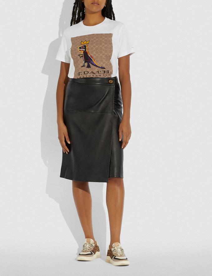 Coach Coach X Jean-Michel Basquiat Signature T-Shirt White New Women's New Arrivals Coach x Basquiat Alternate View 1