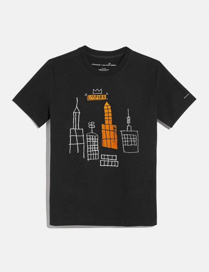Coach Coach X Jean-Michel Basquiat T-Shirt Dunkler Schatten Neu Neuheiten für Damen Kleidung