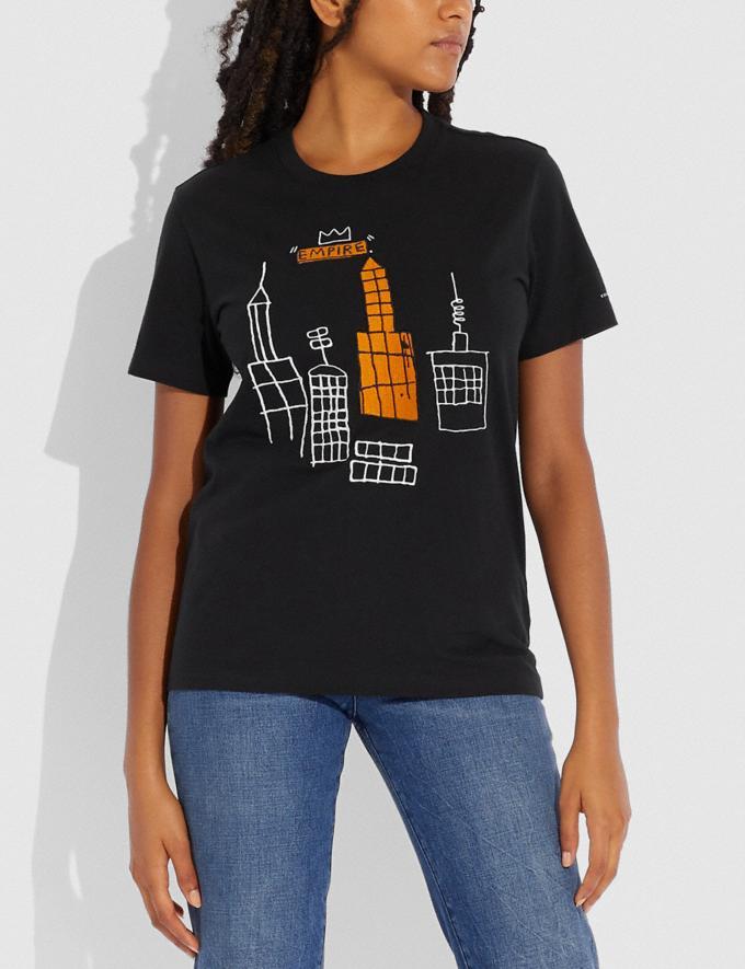 Coach Camiseta Coach X Jean-Michel Basquiat Sombra Oscura Nuevo Novedades para mujer Confección Vistas alternativas 1