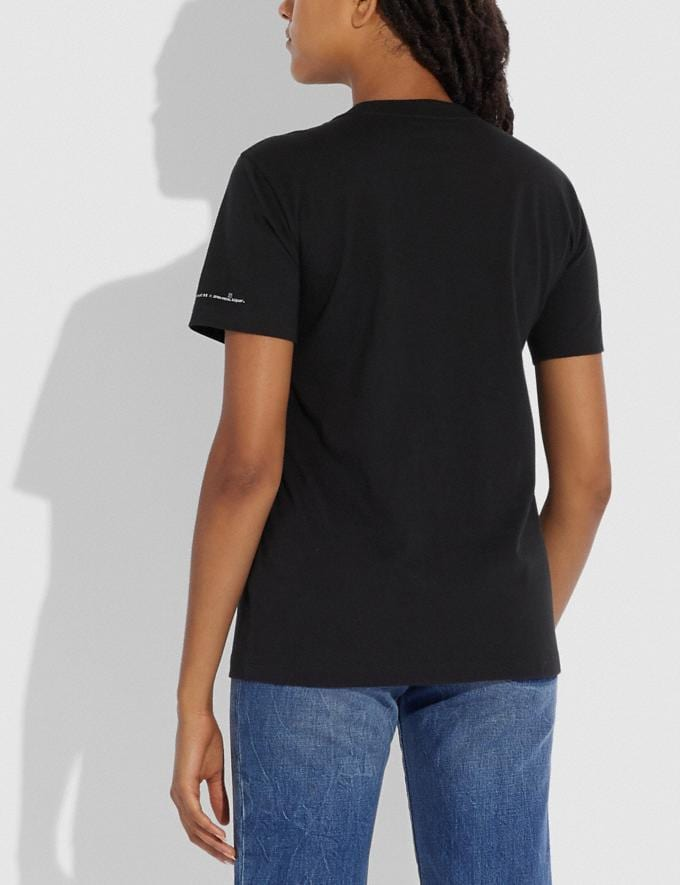 Coach Coach X Jean-Michel Basquiat T-Shirt Dark Shadow New Women's New Arrivals Ready-to-Wear Alternate View 2