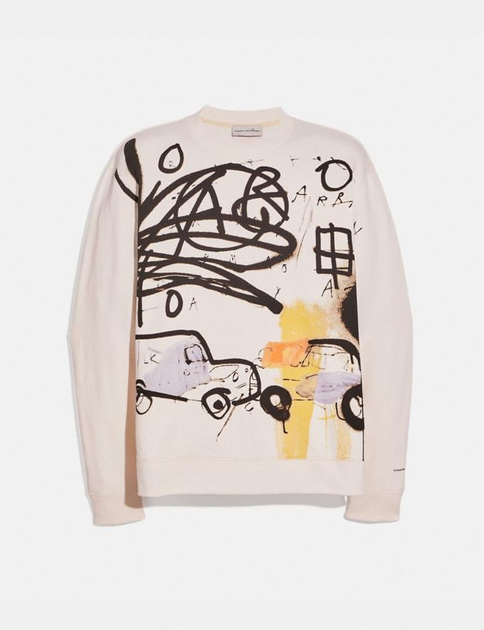 Coach Coach X Jean-Michel Basquiat Sweatshirt Cream Men Ready-to-Wear Tops & Bottoms