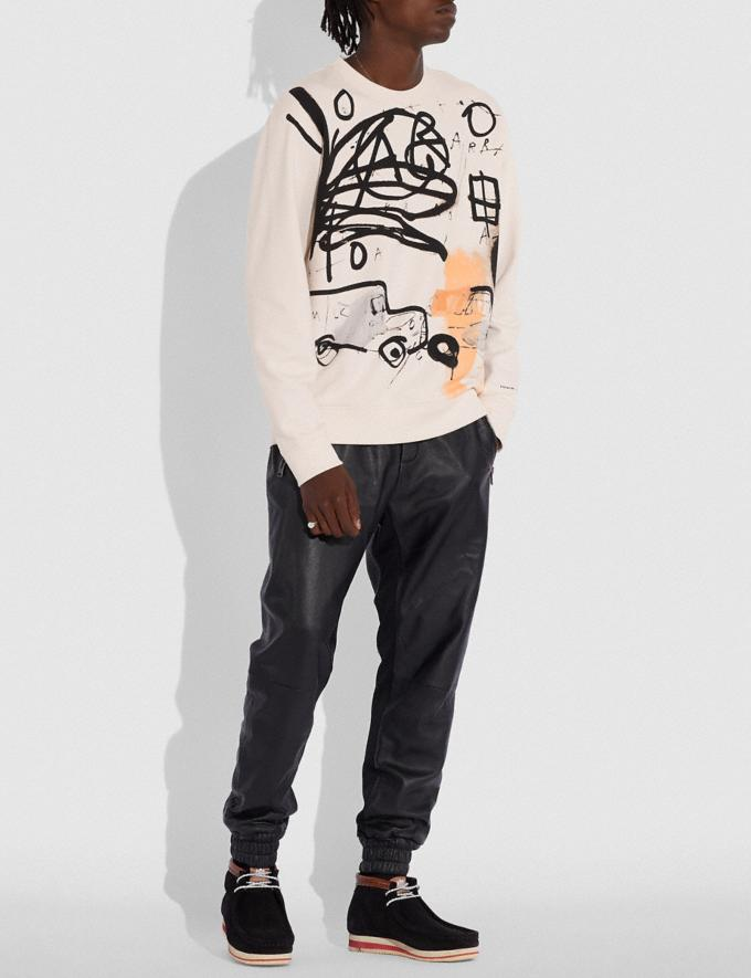 Coach Coach X Jean-Michel Basquiat Sweatshirt Cream Men Ready-to-Wear Tops & Bottoms Alternate View 1