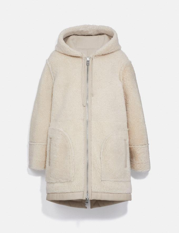 Coach Reversible Shearling Parka Cream Women Ready-to-Wear Coats & Jackets