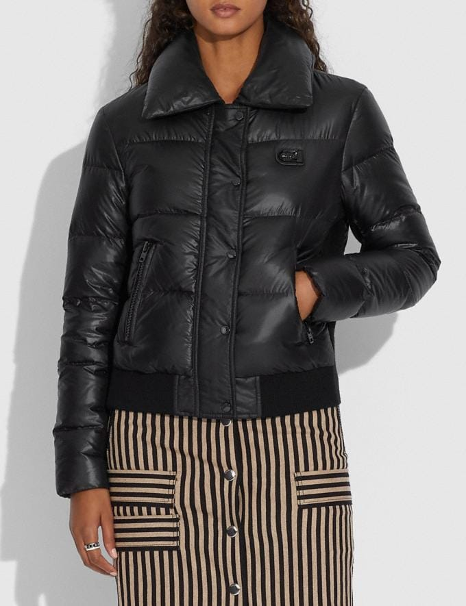 Coach Puffer Jacket With Shearling Oyster  Alternate View 3
