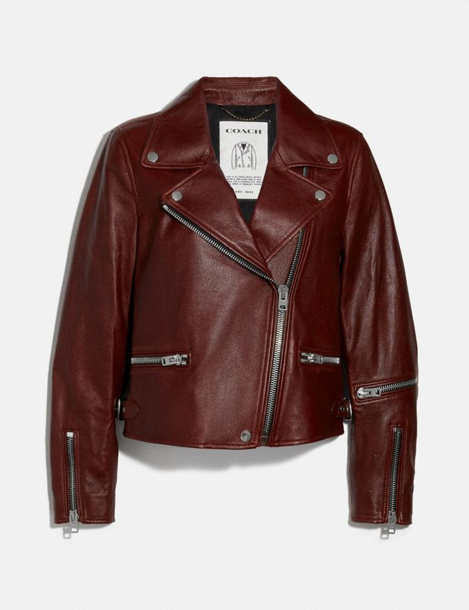 Coach Biker Jacket Russet Women Ready-to-Wear Jackets & Outerwear