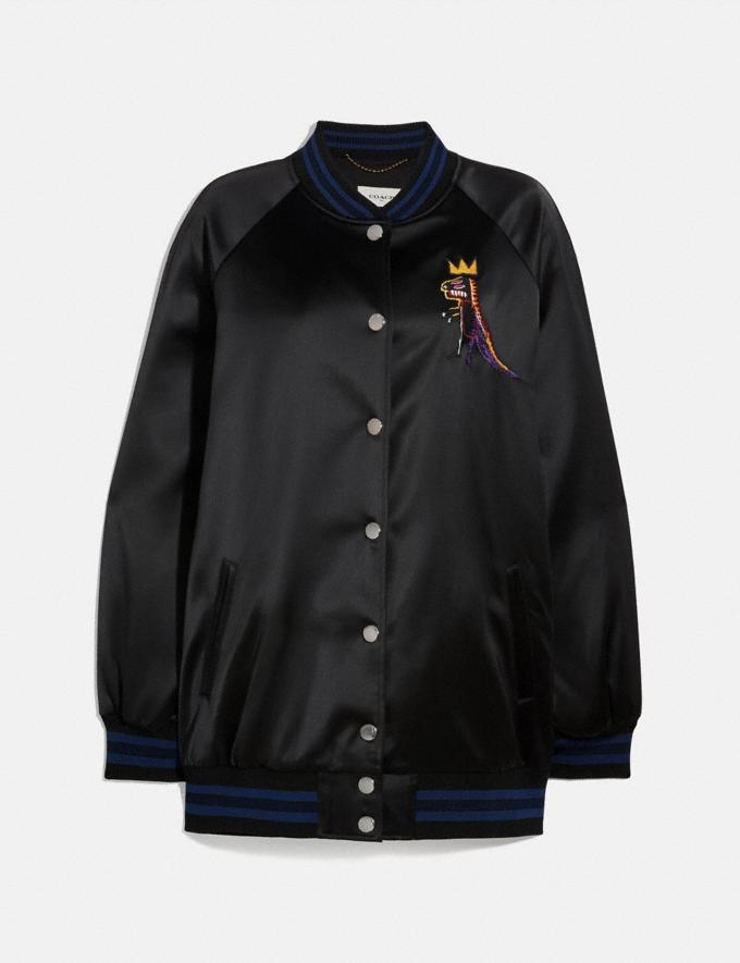 Coach Coach X Jean-Michel Basquiat Oversized Varsity Jacket Black Women Ready-to-Wear Coats & Jackets