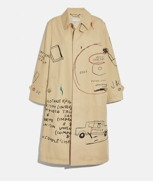 COACH X JEAN-MICHEL BASQUIAT COAT