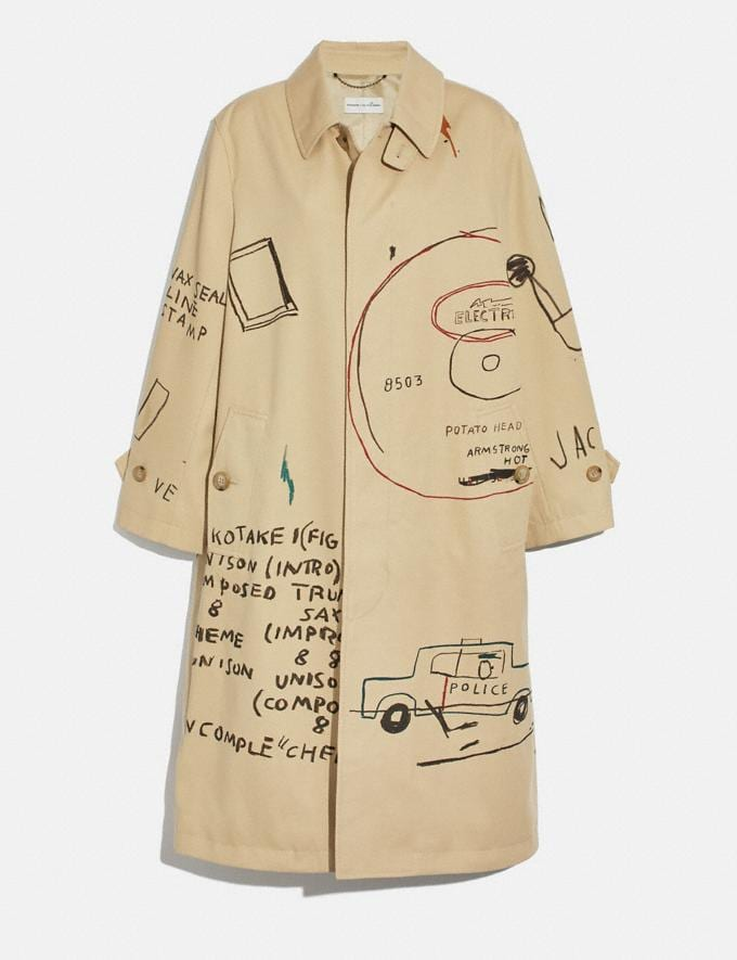 Coach Coach X Jean-Michel Basquiat Coat Beige Women Ready-to-Wear Jackets & Outerwear