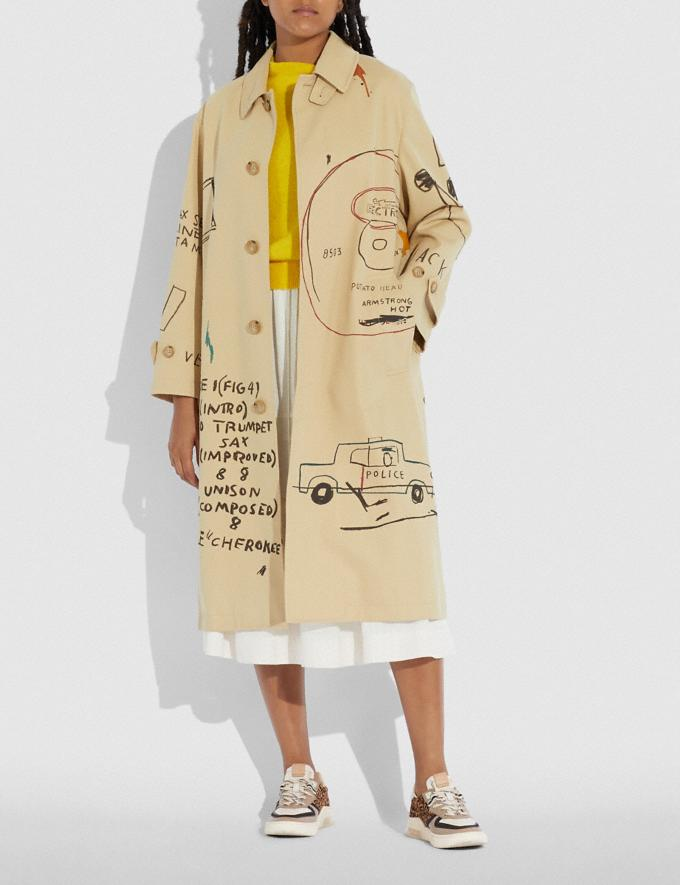 Coach Coach X Jean-Michel Basquiat Coat Beige Women Ready-to-Wear Jackets & Outerwear Alternate View 1