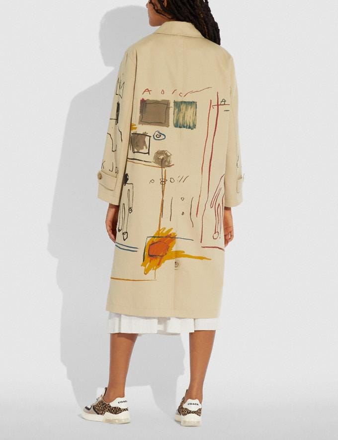 Coach Coach X Jean-Michel Basquiat Coat Beige Women Ready-to-Wear Jackets & Outerwear Alternate View 2