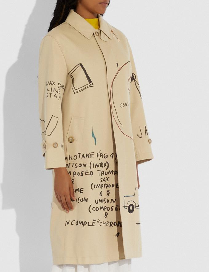 Coach Coach X Jean-Michel Basquiat Coat Beige Women Ready-to-Wear Jackets & Outerwear Alternate View 3