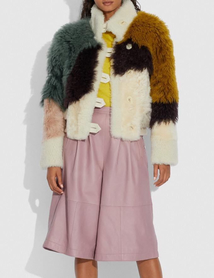 Coach Blouson En Mouton RetournÉ à EmpiÈCements Varech Multi Femme Prêt-à-porter Manteaux et vestes Autres affichages 1