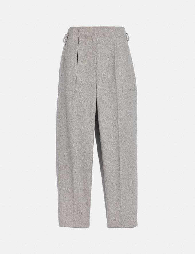 Coach Tailored Pants Grey Women Ready-to-Wear Bottoms