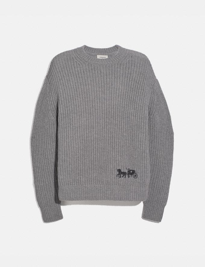 Coach Horse and Carriage Sweater Grey Men Ready-to-Wear Tops & Bottoms