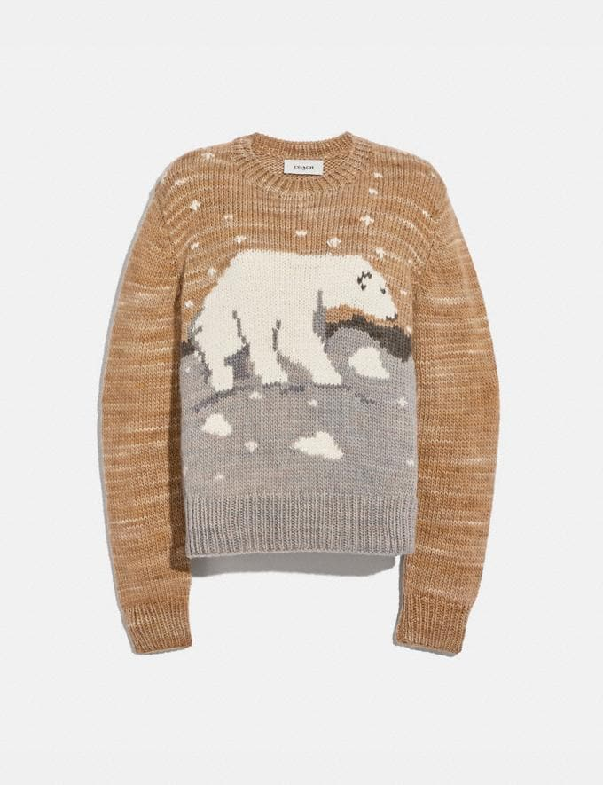 Coach Polar Bear Sweater Beige Women Ready-to-Wear Knitwear & Sweatshirts