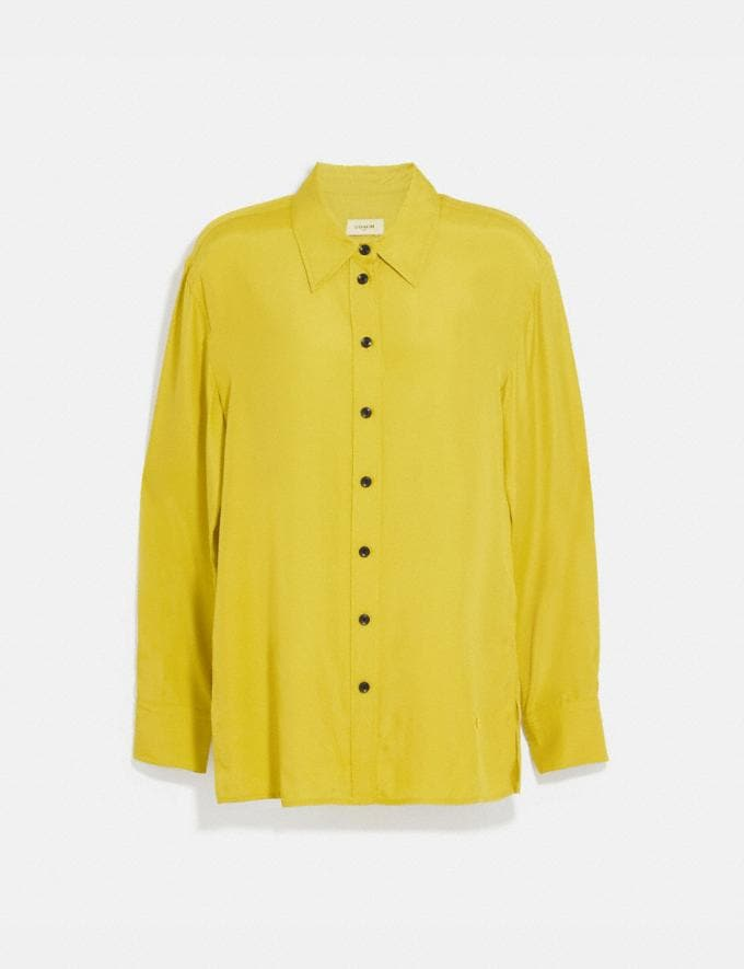 Coach Solid Shirt Limoncello Women Ready-to-Wear Tops & T-shirts