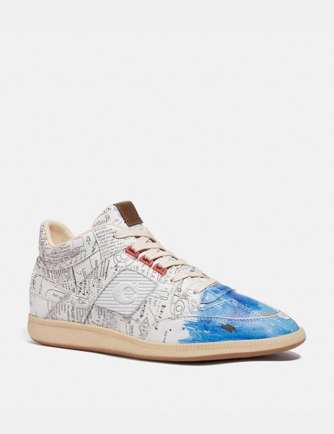 Coach Coach X Jean-Michel Basquiat Citysole Mid Top Sneaker Basquiat White Men Shoes Sneakers