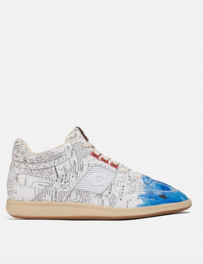 Coach Coach X Jean-Michel Basquiat Citysole Mid Top Sneaker Basquiat White Men Shoes Sneakers Alternate View 1