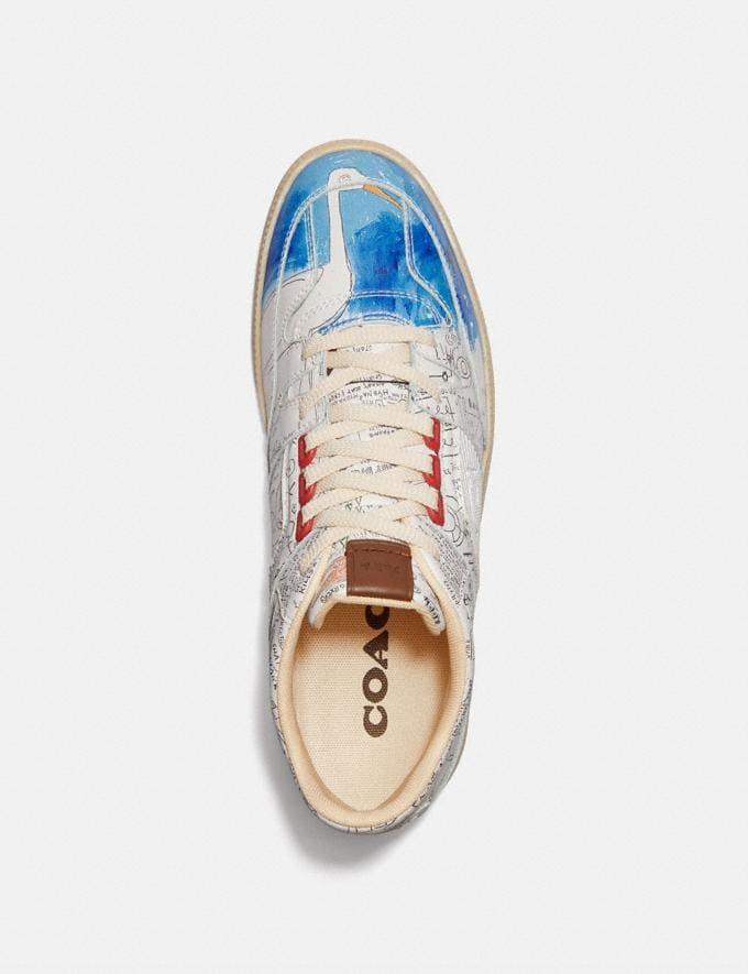 Coach Coach X Jean-Michel Basquiat Citysole Mid Top Sneaker Basquiat White Men Shoes Trainers Alternate View 2