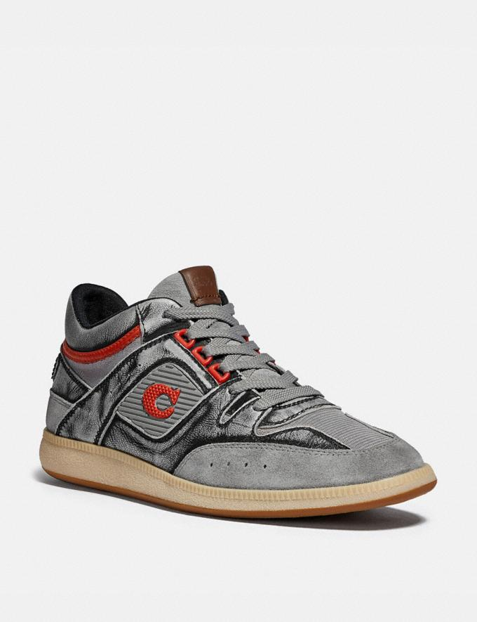 Coach Citysole Mid Top Sneaker Silver Men Shoes Trainers