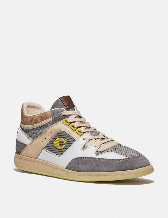 Coach Citysole Mid Top Sneaker Heather Grey Men Shoes Trainers
