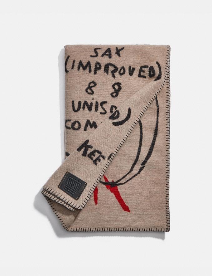 Coach Coach X Jean-Michel Basquiat Scarf Multi Men Ready-to-Wear Scarves & Gloves