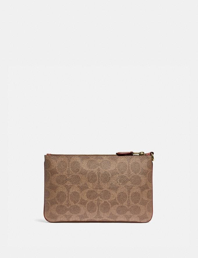 Coach Boxed Small Wristlet in Signature Canvas With Rexy B4/Tan Rust Women Small Leather Goods Wristlets Alternate View 1