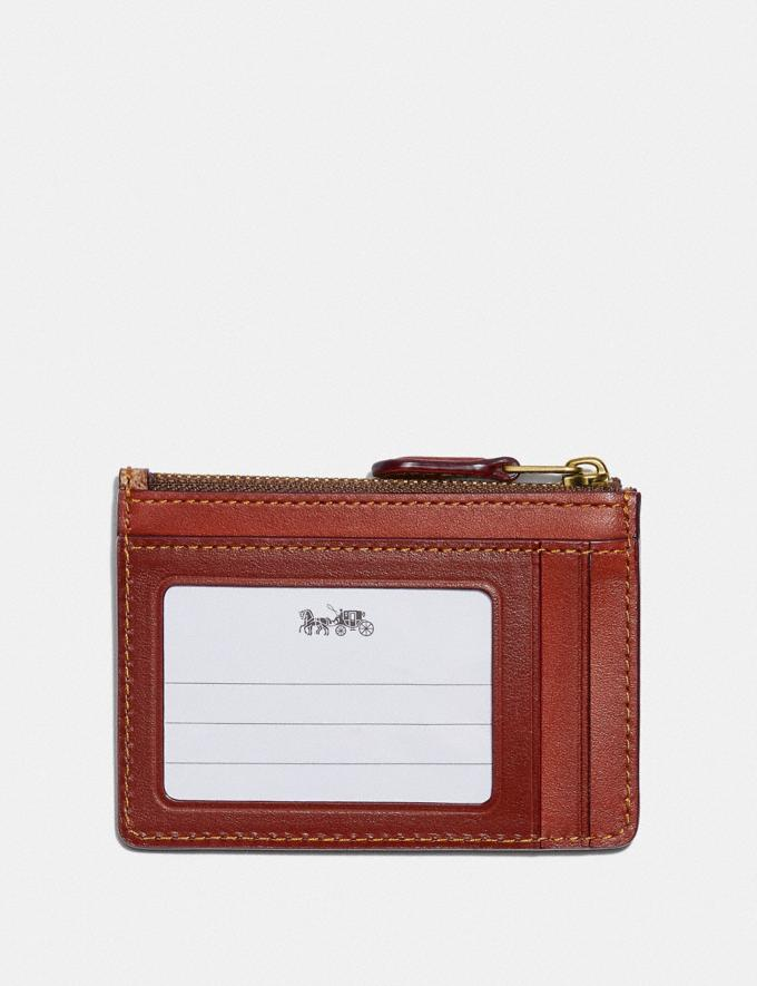 Coach Boxed Mini Skinny Id Case in Signature Canvas With Rexy B4/Tan Rust  Alternate View 1
