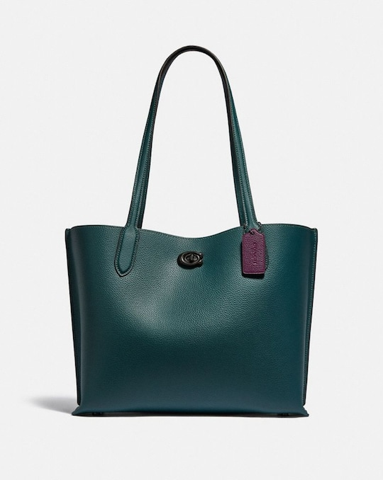 WILLOW TOTE WITH SIGNATURE CANVAS INTERIOR
