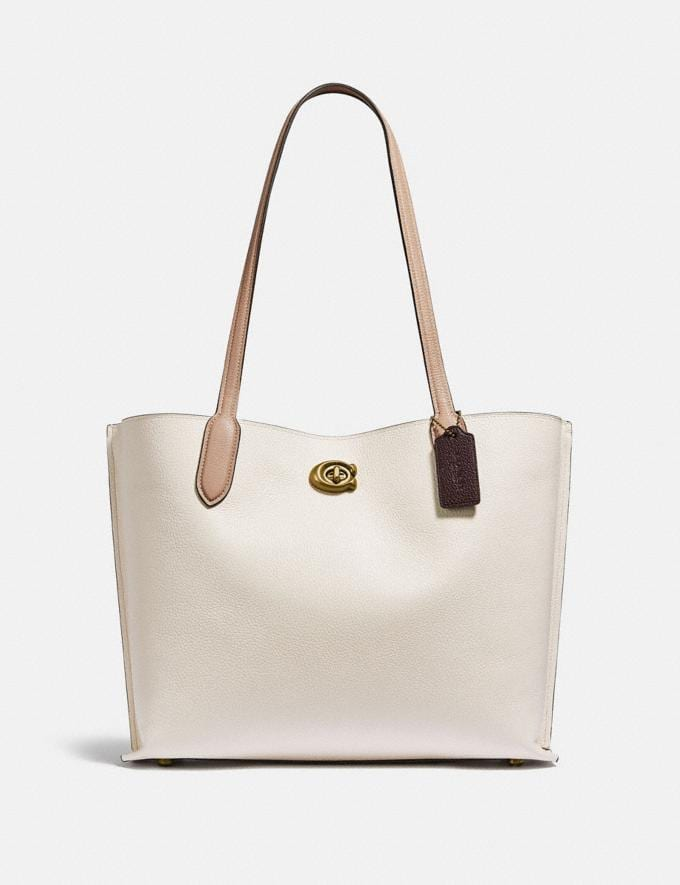 Coach Willow Tote in Colorblock B4/Chalk Multi New Women's New Arrivals Bags