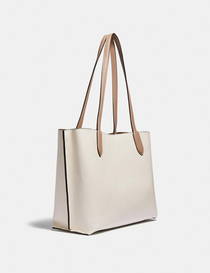 Coach Willow Tote in Colorblock B4/Chalk Multi New Women's New Arrivals Bags Alternate View 1