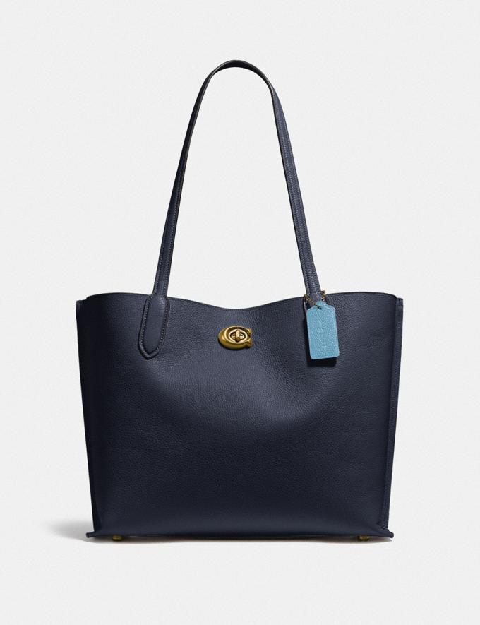 Coach Willow Tote in Colorblock B4/Midnight Navy Multi New Women's New Arrivals Bags
