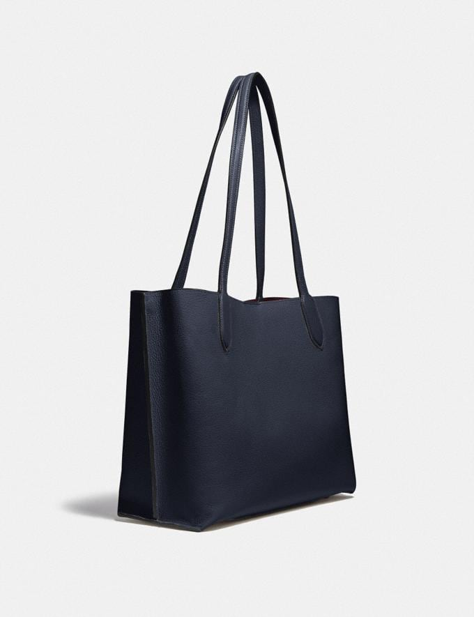 Coach Willow Tote in Colorblock B4/Midnight Navy Multi New Women's New Arrivals Bags Alternate View 1