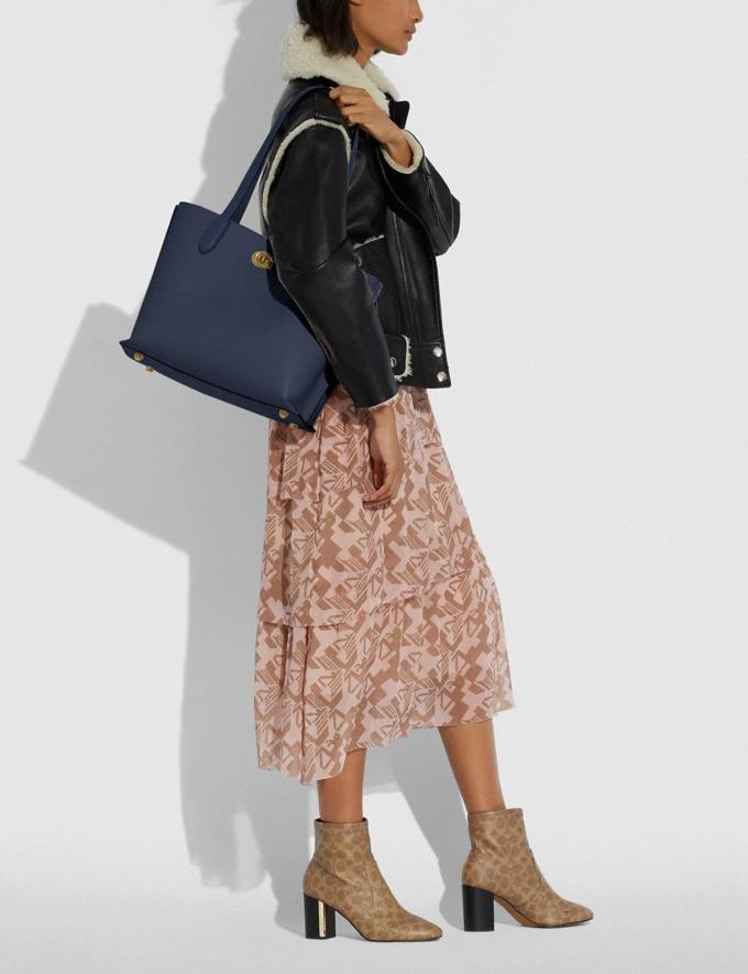 Coach Willow Tote in Colorblock B4/Midnight Navy Multi New Women's New Arrivals Bags Alternate View 3