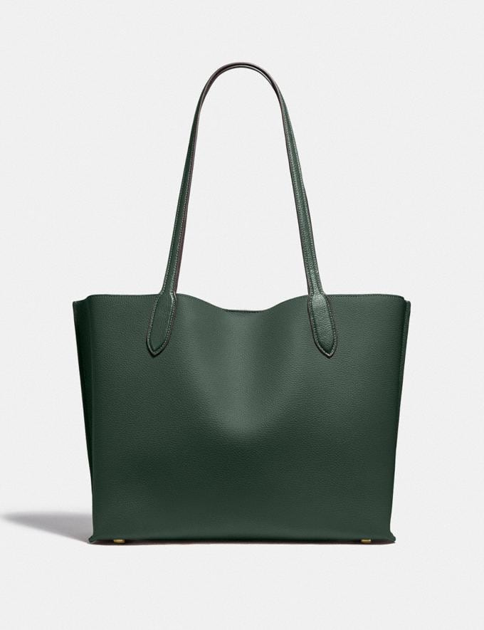 Coach Willow Tote in Colorblock With Signature Canvas Interior Brass/Amazon Green Multi DEFAULT_CATEGORY Alternate View 2
