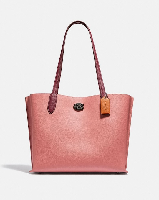 WILLOW TOTE IN COLORBLOCK WITH SIGNATURE CANVAS INTERIOR